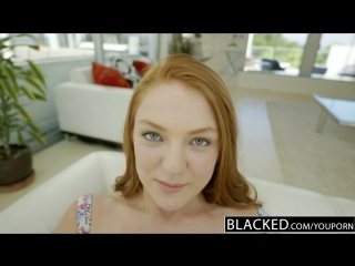 Farrah Flower Redhead Teen Enjoys Interracial Sex