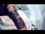 процесс нанесения татуировки череп master tattoo medved