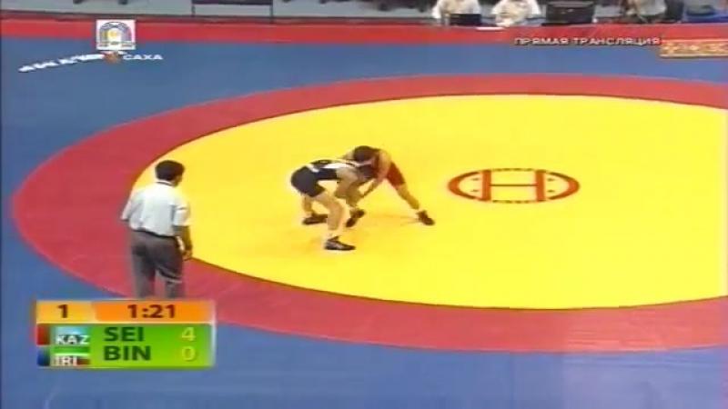 Children of Asia 2012 42 kg Gold Medal N Seitjan Kaz M Biniaz Iran