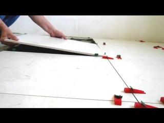 Как положить плитку  Система выравнивания плитки