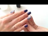 Зимний дизайн ногтей акриловыми красками - маникюр гель лак - уроки дизайна Донецк