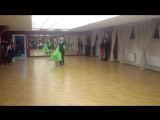 Конкурсные танцы и показательное выступление танцоров В-класса