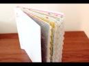Mini álbum de sobres con cubierta de cartón I Estructura