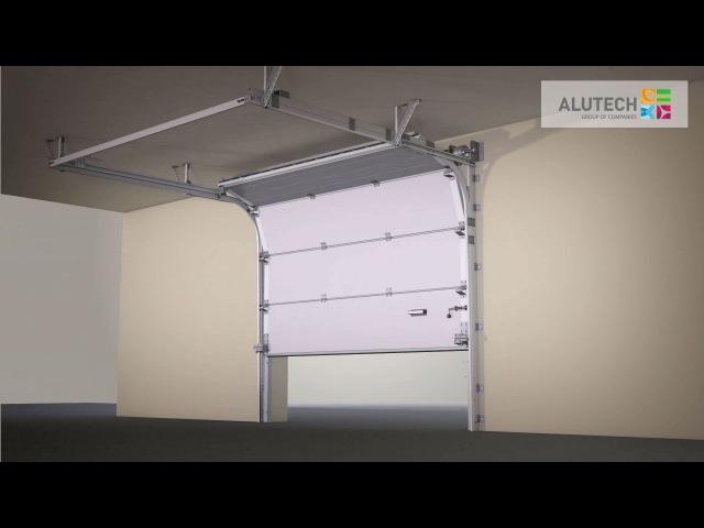 Стандартный монтаж промышленных ворот серии ProPlus с калиткой