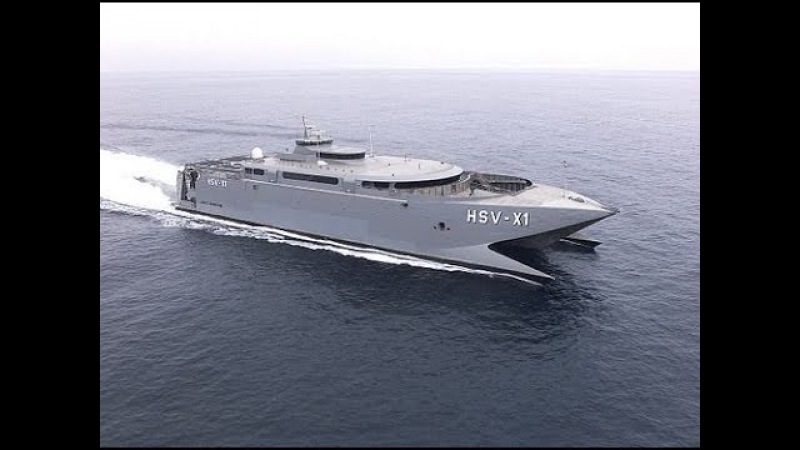 SUPER FAST US Navy HSV 2 Swift Catamaran