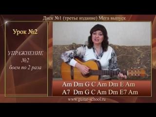 Уроки гитары для начинающих Урок № 2 Как играть аккорды на гитаре и бой