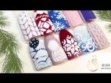 ❅ Зимний дизайн ногтей ❅ Шапочка по технике бархатный песок ❅