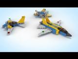LEGO CREATOR РЕАКТИВНЫЙ САМОЛЕТ 31042