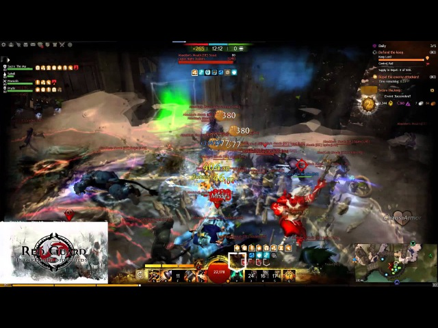 Guild Wars 2 Red Guard Liryc Warrior Wvwvw Blob Killing Video With Sacrx The Machine Audio