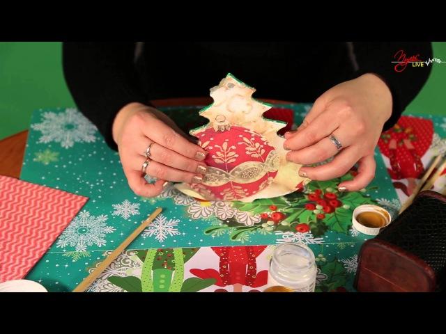 Новогодний декупаж своими руками (видео)