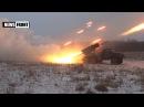 Новороссия. Ополченцы из РСЗО «Град» уничтожают оккупантов