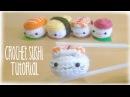 How to crochet cute kawaii Sushi - Amigurumi Tutorial