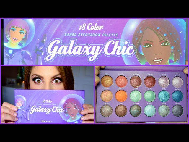 Bh cosmetics GALAXY CHIC 18 color baked eyeshadow palette | swatches my thoughts!