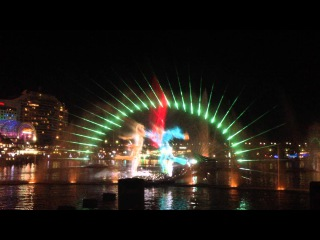 Vivid Sydney - Darling Harbour Aquatic Water Theater Show 2014
