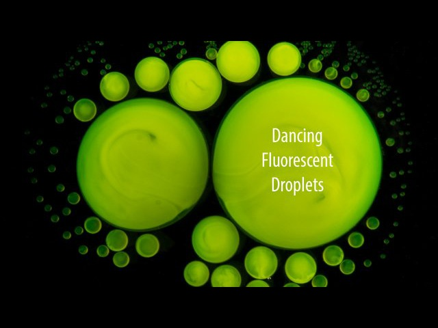 Beautiful Chemistry: Dancing Fluorescent Droplets