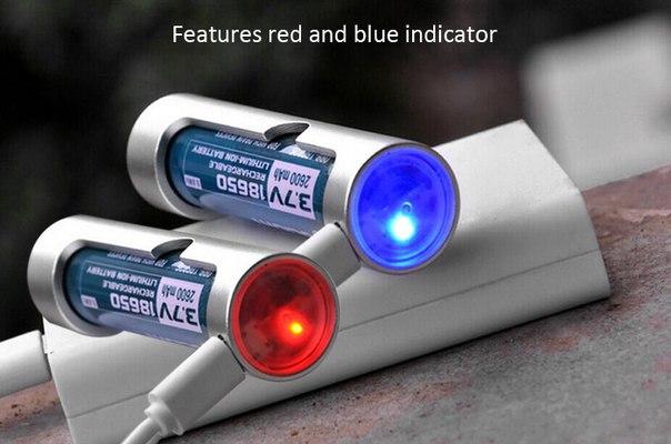 GearBest: Дешевая металлическая зарядка под акки 18650 от микроюсб кабеля