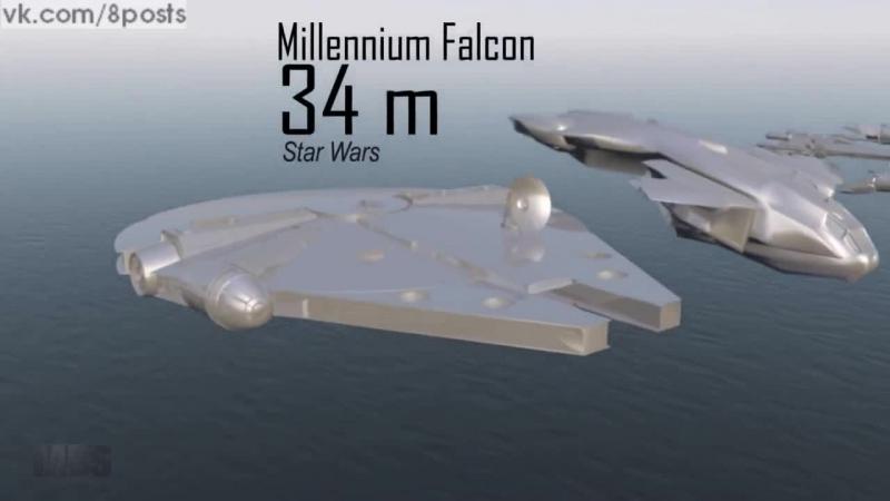 Подборка и сравнение всех самых известных космических кораблей из игр, фильмов и сериалов /