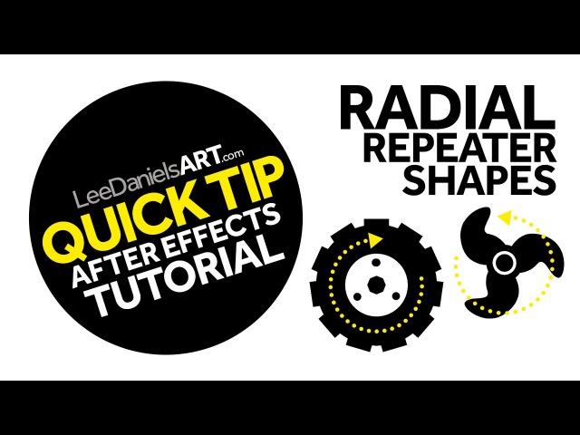 After Effects Tutorial | QUICK TIP | Radial Repeater Shapes