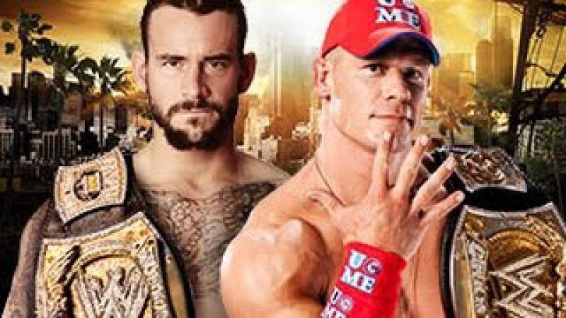 John Cena vs. CM Punk - Winner faces The Rock for the WWE Title at WrestleMania