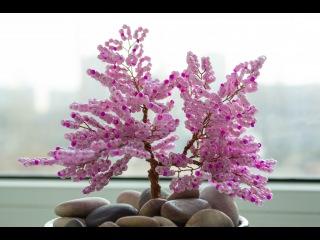 Мастер-класс: дерево из бисера. Плетение сакуры