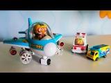Мультики про машинки и самолёты. Игрушки из мультфильма. Пороро и Маша строят аэропорт.