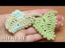 Crochet Leaf Pattern Урок 13 Вязание крючком  Листочек из разновысоких столбиков и пико