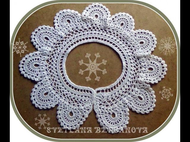 Кружевной воротничок вариант 2 Crocheted collar