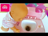 Кукла Беби Борн покакал в игрушечный туалет НОВЫЕ СЕРИИ игры для детей от МИСС МИЛИ
