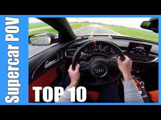 TOP 10 SUPERCAR POV's   Mercedes AMG, BMW M, Audi RS LOUD and FAST! Accelerations