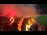 Российские фанаты сожгли флаги Турции во время матча