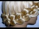 Причёска с плетением  для средних и длинных волос