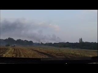 Валерий Ананьев снял бой под Углегорском