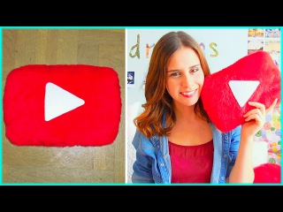DIY youtube play button pillow + Q&A: accent, where I am from & more!