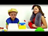 Игры для детей. СУПЕРМАРКЕТ. Настя, Вова и Детская касса. Смешные Видео для детей