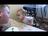 Малышка показывает характер. Разговор папы с дочкой. Приколы с детьми