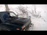в гору по снегу на ниве