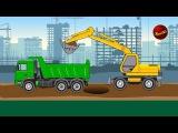 Машинки. Дорожно-строительная техника. Машины для детей. Мультики про машинки.