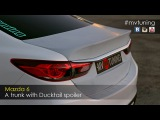 A trunk with Ducktail Spoiler for Mazda 6. Fitting before painting.