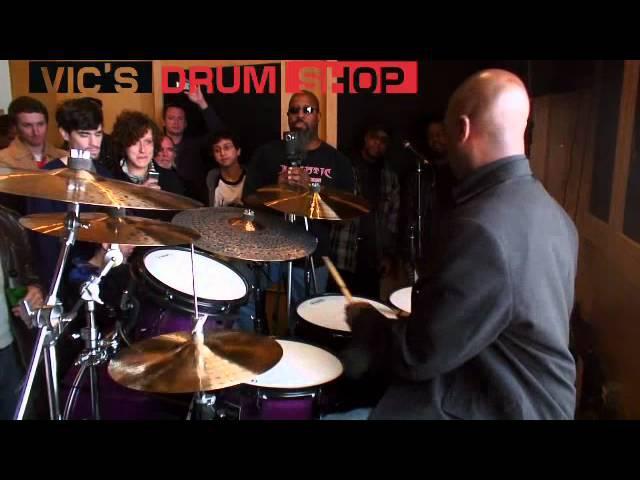 Nathaniel Townsley at Vics Drum Shop part 1