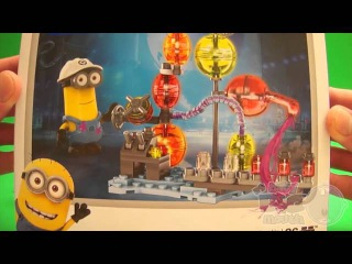 Minions Party! Opening Minions Kinder Surprise Eggs Blind Box and Mega Bloks Toys