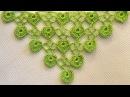 ♥ Бактус, мини-шаль с листочками / сердечками • МК Узор для вязания крючком