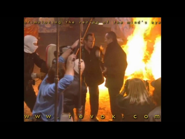 HARD TARGET (1993) Behind the scenes footage of John Woo directing Lance Henriksen