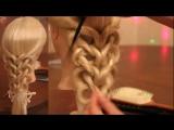 Коса на резинках - Калейдоскоп - сердца