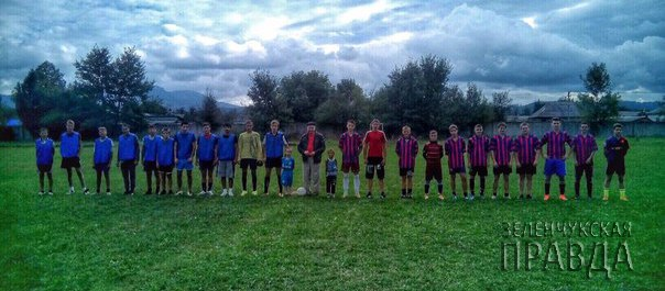 Футболисты станицы Исправной сразились с ФК «Горец» в поселке Псебай