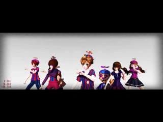 [MMD Five nights at Freddys 2] TOO MANY BB and BG_JJ MODELS (1)