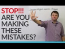 Dont make these mistakes in English!