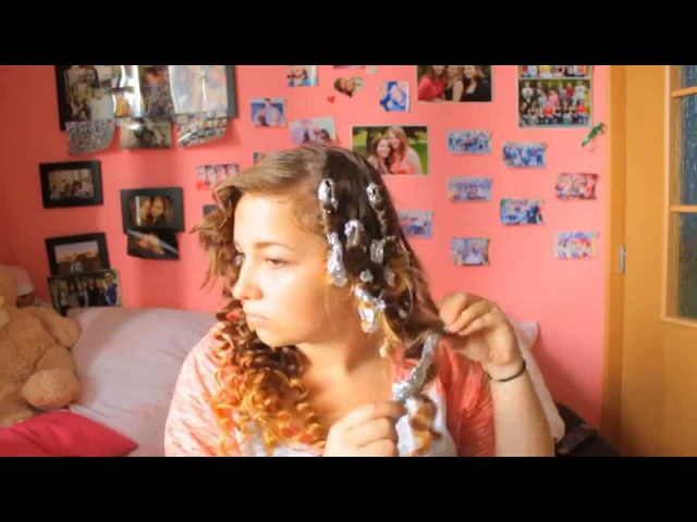 How to make curls with kitchen foil