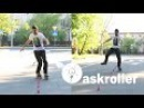 Слалом на роликах: Criss-Cross, monoline, one foot | askroller