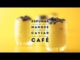 JAUNE by Carte Noire Espumas de mangue au caviar de caf