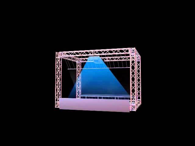 Holographic Projection Pepper Ghost setup with Christie projectors